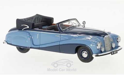 Mercedes 320 1/43 Matrix A (W142) Spezial Cabriolet Open bleue/bleue 1948 Tan Tjoan Keng miniature