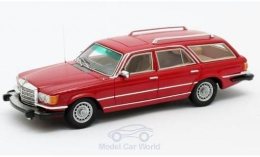 Mercedes 350 1/43 Matrix SE (W116) Crayford Estate rouge 1977 miniature