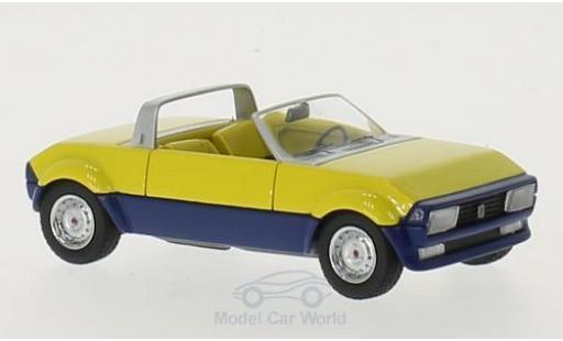 Peugeot 104 1/43 Matrix Peugette by Pininfarina jaune/bleue 1976 miniature