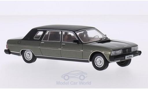 Peugeot 604 1/43 Matrix Heuliez Limousine metallic-grün/matt-noire 1980 miniature