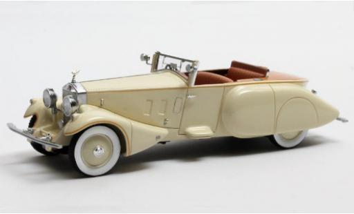 Rolls Royce Phantom 1/43 Matrix II Barker Boattail beige RHD 1930 Maharaja of Rewa (#179XJ) diecast model cars