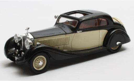 Rolls Royce Phantom 1/43 Matrix II Continental Sports Coupe Gurney Nutting noire/beige RHD 1935 Maharajah of Jodhpur Fahrgestell-n° 62UK miniature