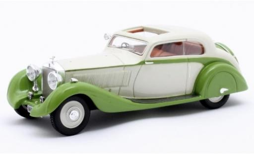 Rolls Royce Phantom 1/43 Matrix II Continental Sports Coupe Gurney Nutting blanche/verte RHD 1935 Maharajah of Jodhpur Fahrgestell-n° 62UK miniature