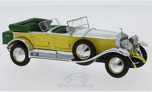 Rolls Royce Phantom 1/43 Matrix Tourer by Barker #820R jaune/grise RHD 1929 miniature