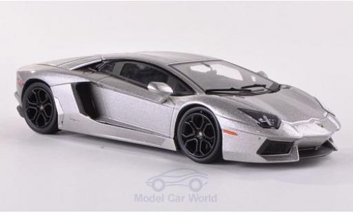 Lamborghini Aventador LP700-4 1/43 Mattel Elite metallise grise miniature
