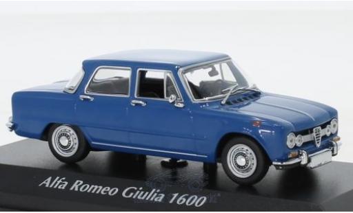 Alfa Romeo Giulia 1/43 Maxichamps 1600 bleue 1970 miniature