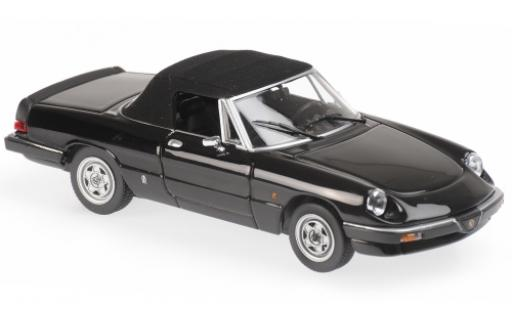 Alfa Romeo Spider 1/43 Maxichamps noire 1983 miniature