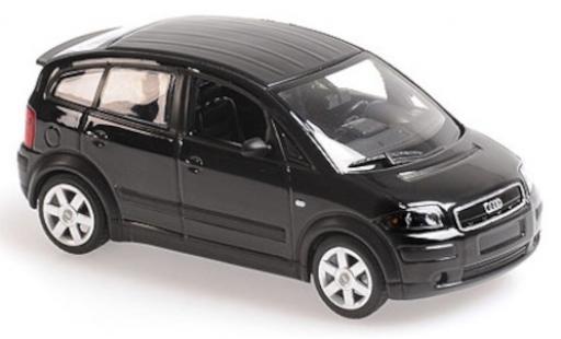 Audi A2 1/43 Maxichamps metallise black/matt-black 2000 diecast model cars