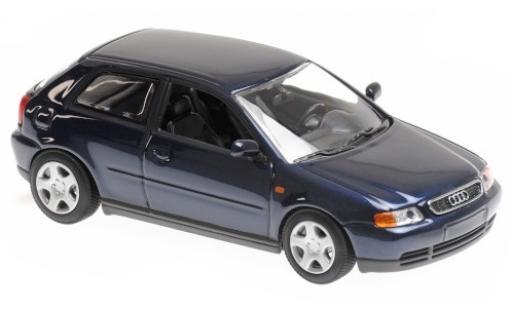 Audi A3 1/43 Maxichamps (8L) metallise bleue 1996 miniature
