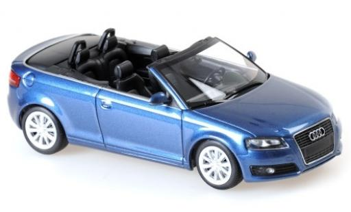 Audi A3 1/43 Maxichamps Cabriolet metallise bleue 2007 miniature