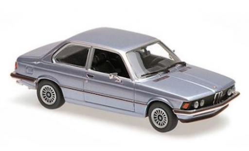 Bmw 323 1/43 Maxichamps i (E21) metallise bleue 1975 miniature