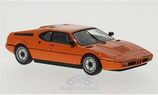 Bmw M1 1979 1/43 Maxichamps orange miniature