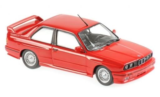 Bmw M3 1/43 Maxichamps (E30) rouge 1987 miniature