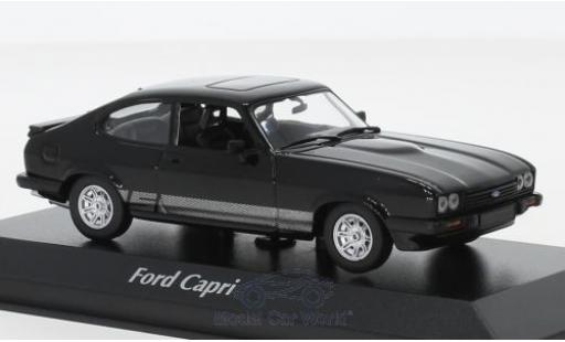 Ford Capri 1/43 Maxichamps MKIII 3.0 S black 1982 diecast model cars