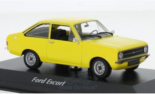 Ford Escort 1/43 Maxichamps 1.3 jaune 1975 miniature