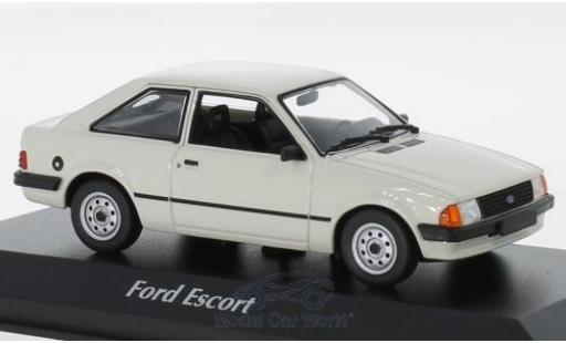 Ford Escort 1/43 Maxichamps MK III grey 1981 diecast