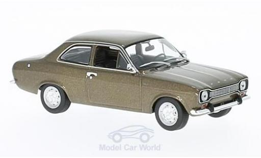 Ford Escort MKI 1/43 Maxichamps metallise marron 1968 miniature