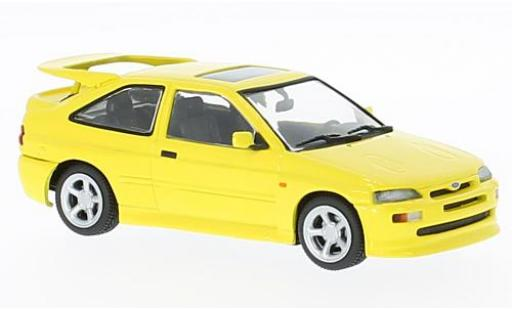 Ford Escort 1/43 Maxichamps RS Cosworth jaune 1992 miniature