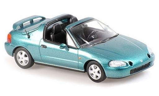 Honda CR-X 1/43 Maxichamps del Sol metallise green 1992 diecast model cars