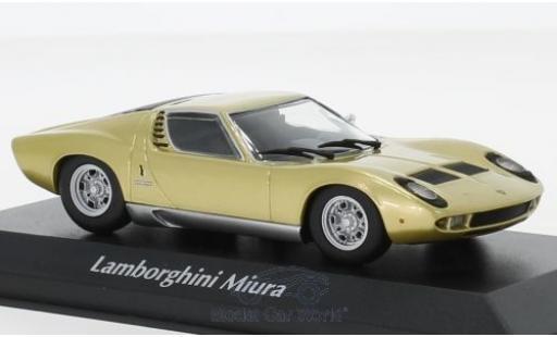 Lamborghini Miura 1/43 Maxichamps gold 1966 miniature