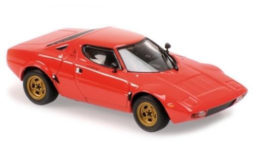 Lancia Stratos 1/43 Maxichamps rouge 1974 miniature