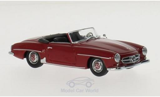 Mercedes 190 SL 1/43 Maxichamps (W121) rouge 1955 miniature