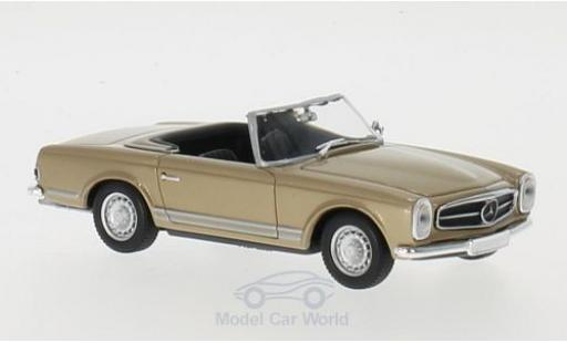 Mercedes 230 1/43 Maxichamps SL gold 1965 miniature