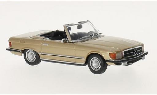 Mercedes 350 1/43 Maxichamps SL (R107) gold 1974 miniature