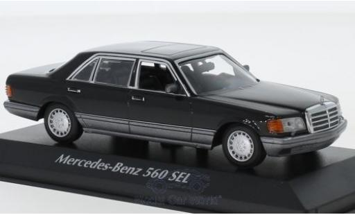 Mercedes 560 1/43 Maxichamps SEL (V126) black 1990 diecast model cars