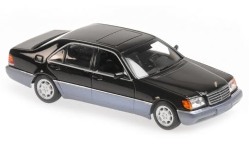 Mercedes 600 1/43 Maxichamps SEL (W140) metallise black 1992 diecast model cars