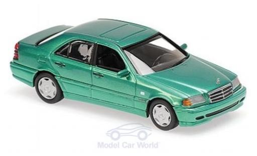 Mercedes Classe C 1/43 Maxichamps (W202) metallise verde 1997 modellino in miniatura