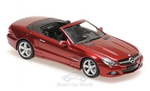 Mercedes Classe SL 1/43 Maxichamps (R230) metallise red 2008 diecast model cars