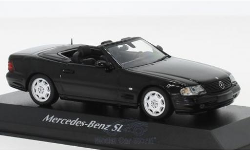 Mercedes Classe SL 1/43 Maxichamps SL black 1999 diecast model cars