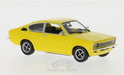 Opel Kadett E 1/43 Maxichamps C Coupe jaune 1974 miniature