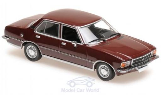 Opel Rekord 1/43 Maxichamps D rouge 1975 miniature