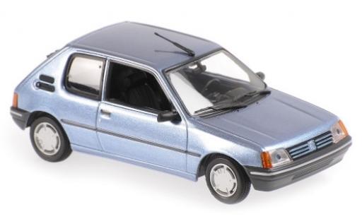 Peugeot 205 1/43 Maxichamps XR metallise bleue 1990 miniature