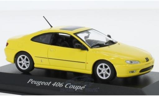 Peugeot 406 1/43 Maxichamps Coupe yellow 1997 diecast model cars