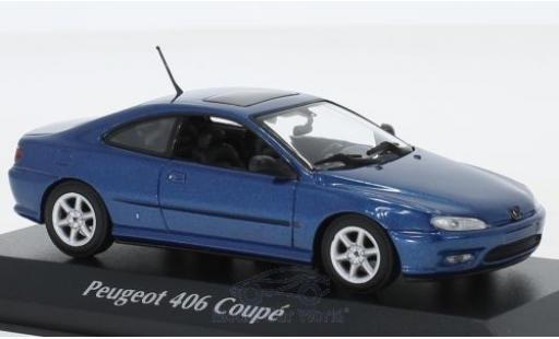Peugeot 406 1/43 Maxichamps Coupe metallise blue 1997 diecast model cars