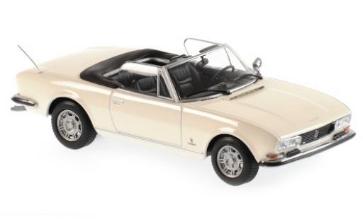 Peugeot 504 1/43 Maxichamps Cabriolet blanche 1977 miniature