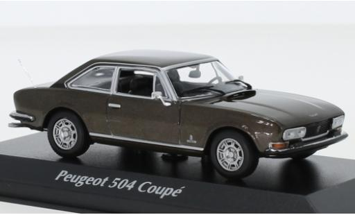 Peugeot 504 1/43 Maxichamps Coupe metallise marron 1976 miniature