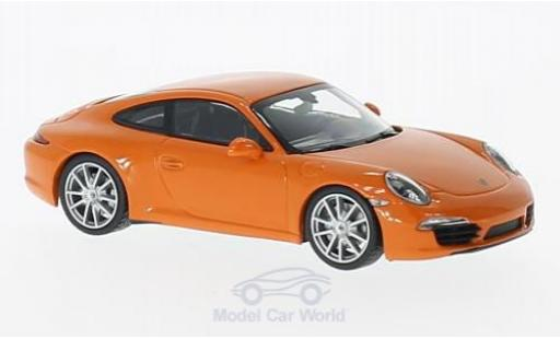 Porsche 991 S 1/43 Maxichamps 911  Carrera orange 2012 miniature