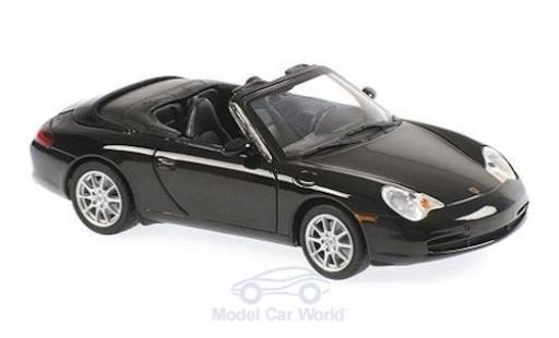 Porsche 911 1/43 Maxichamps (996) Cabriolet mettalic schwarz 2001 modellautos