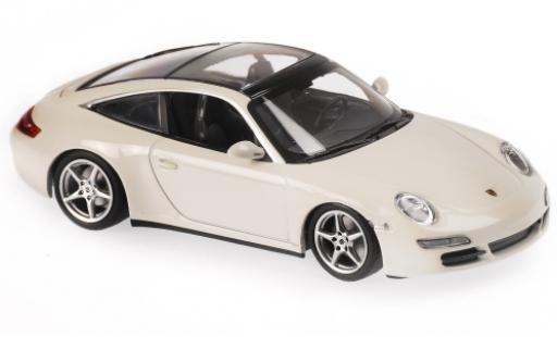 Porsche 997 Targa 1/43 Maxichamps 911  blanche 2006 miniature