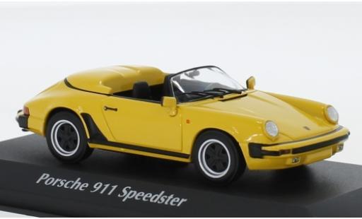 Porsche 930 Speedster 1/43 Maxichamps 911 jaune 1988 miniature
