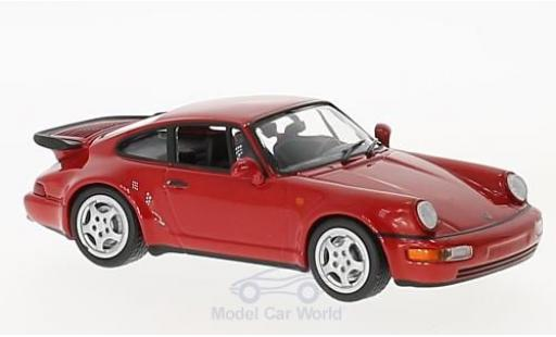 Porsche 964 Turbo 1/43 Maxichamps 911  rouge 1990 miniature