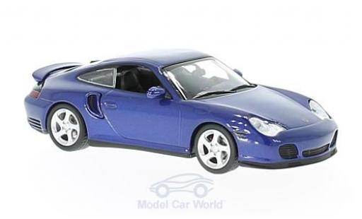 Porsche 996 Turbo 1/43 Maxichamps 911  metallise blue 1999 diecast model cars