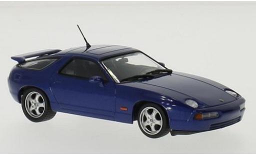 Porsche 928 1/43 Maxichamps GTS metallise bleue 1991 miniature