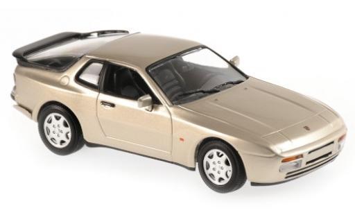 Porsche 944 1/43 Maxichamps S2 metallise beige 1989 miniature