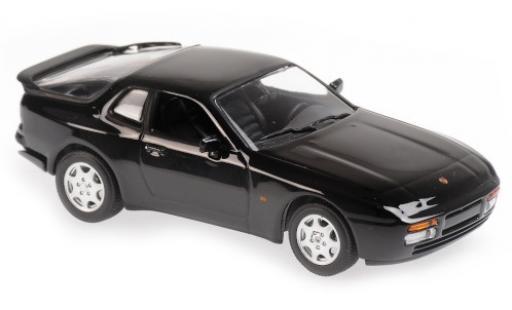 Porsche 944 1/43 Maxichamps S2 noire 1989 miniature