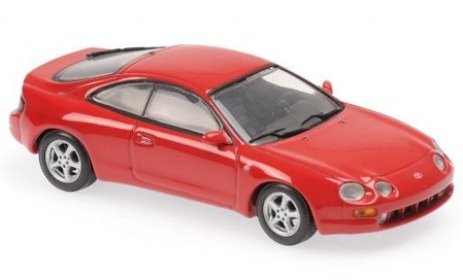 Toyota Celica 1/43 Maxichamps rosso 1994 modellino in miniatura